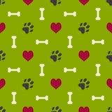 Het patroon van de hondpoot Stock Foto