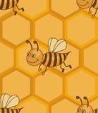Het patroon van de honingraat Royalty-vrije Stock Afbeelding