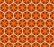 Het patroon van de honingraat. Naadloos ontwerp. Stock Foto