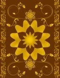 Het patroon van de installatie en van de bloem Royalty-vrije Stock Afbeelding