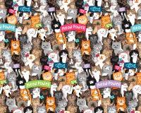 Het patroon van de kattenparade stock illustratie
