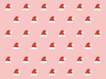 Het patroon van de kerstmanhoed Royalty-vrije Stock Afbeeldingen