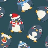 Het Patroon van de Kerstmispinguïn vector illustratie