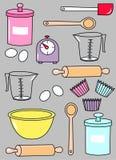 Het patroon van de keuken Stock Afbeeldingen