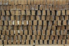Het patroon van de klei vóór baksteen Stock Afbeeldingen