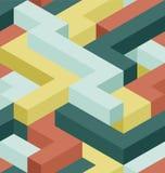 Het patroon van de kleurenrechthoek Royalty-vrije Stock Afbeelding