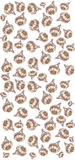 Het patroon van de knoflookbol Stock Fotografie