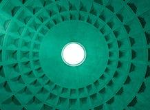 Het patroon van de Koepel van het pantheon en gat, Rome Italië. Royalty-vrije Stock Afbeeldingen