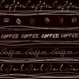 Het patroon van de koffie Stock Afbeelding