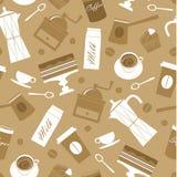 Het patroon van de koffie Stock Foto