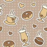 Het patroon van de koffie Stock Foto's