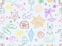 Het patroon van de krabbelreis Royalty-vrije Stock Afbeeldingen