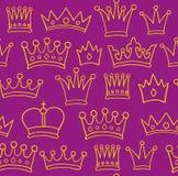 Het patroon van de kroon Stock Afbeeldingen