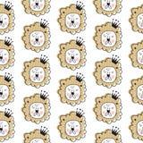Het patroon van de leeuwkoning stock illustratie