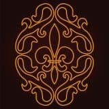 Het patroon van de lelie Royalty-vrije Stock Foto
