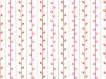 Het patroon van de lente Naadloze schets vectorillustratie Roze en witte takjeachtergrond Hand getrokken taktextuur Stock Fotografie