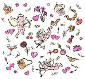 Het patroon van de liefde. Royalty-vrije Stock Afbeelding