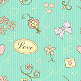 Het patroon van de liefde stock illustratie