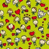 Het patroon van de liefde Stock Afbeeldingen