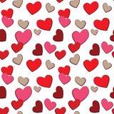 Het patroon van de Liefde van de Harten van de Dag van valentijnskaarten Stock Afbeeldingen