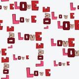Het patroon van de Liefde van de Harten van de Dag van valentijnskaarten Stock Afbeelding