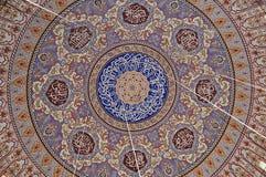 Het patroon van het de Moskeedak van Edirneselimiye in Turkije De moskee werd opgedragen door Sultan Selim II, en werd gebouwd do stock afbeelding