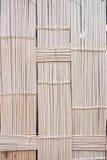 Het patroon van de muur van het bamboeweefsel Stock Afbeelding