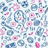 Het patroon van de muziek Stock Foto's