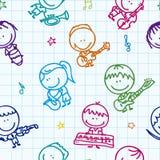Het patroon van de muziek royalty-vrije illustratie