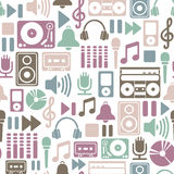 Het patroon van de muziek Stock Afbeelding