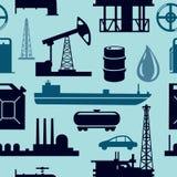 Het patroon van de olieindustrie stock illustratie