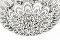 Het patroon van de pauwveer van de moderne verlichting van het kristalplafond royalty-vrije stock foto's
