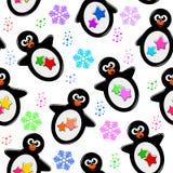 Het patroon van de pinguïn Stock Afbeelding