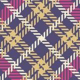 Het patroon van de plaid stock illustratie
