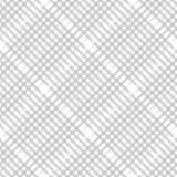 Het patroon van de plaidcontrole in pastelkleur grijze, stoffige beige en wit Naadloze stoffentextuur Diagonale druk vector illustratie