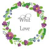 Het patroon van de prentbriefkaarzomer van bloemen Stock Fotografie