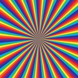 Het patroon van de regenboogwerveling, abstracte vectorkunstillustratie stock illustratie