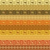 Het patroon van de safari op gestreepte achtergrond Royalty-vrije Stock Foto