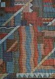 Het patroon van de stof met abstract ornament Stock Foto