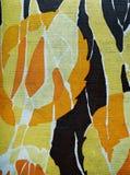 Het patroon van de stof in retro stijl met abstract beeld. Stock Foto's