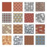 Het patroon van de straatsteen De gang van de baksteenbetonmolen, de plak van rotsstenen en de vloer van de straatbestrating blok stock illustratie