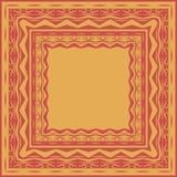 Het patroon van de tafelkleedgrens Vector Illustratie