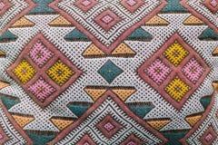Het patroon van de tapijttextuur Royalty-vrije Stock Foto's
