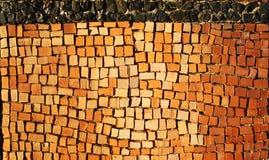 Het patroon van de tegel van oude ceramiektegels Stock Foto's
