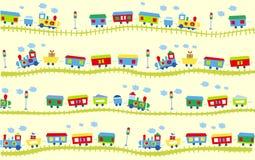 Het patroon van de trein Stock Foto's