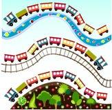 Het patroon van de trein, behang Royalty-vrije Stock Fotografie