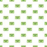 het patroon van de 24 uurdienst, beeldverhaalstijl Stock Foto