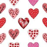 Het patroon van de valentijnskaart Stock Afbeeldingen