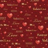 Het patroon van de valentijnskaart Stock Foto