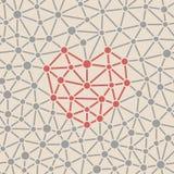 Het patroon van de valentijnskaart Royalty-vrije Stock Fotografie
